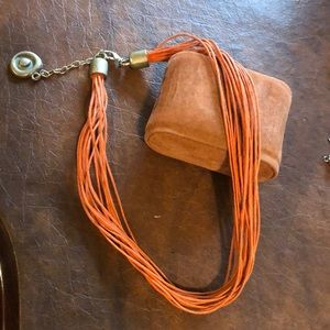 Fall leather cord